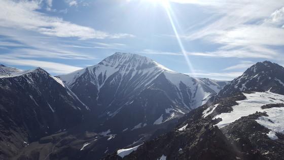 Cerro Plata visto do cume do Cerro Franke.