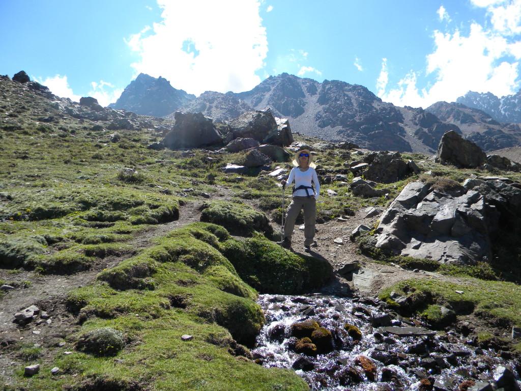 Na descida de Vequitas Superior para o acampamento de Veguitas encontramos onde começa o rio que cruza o acampamento.
