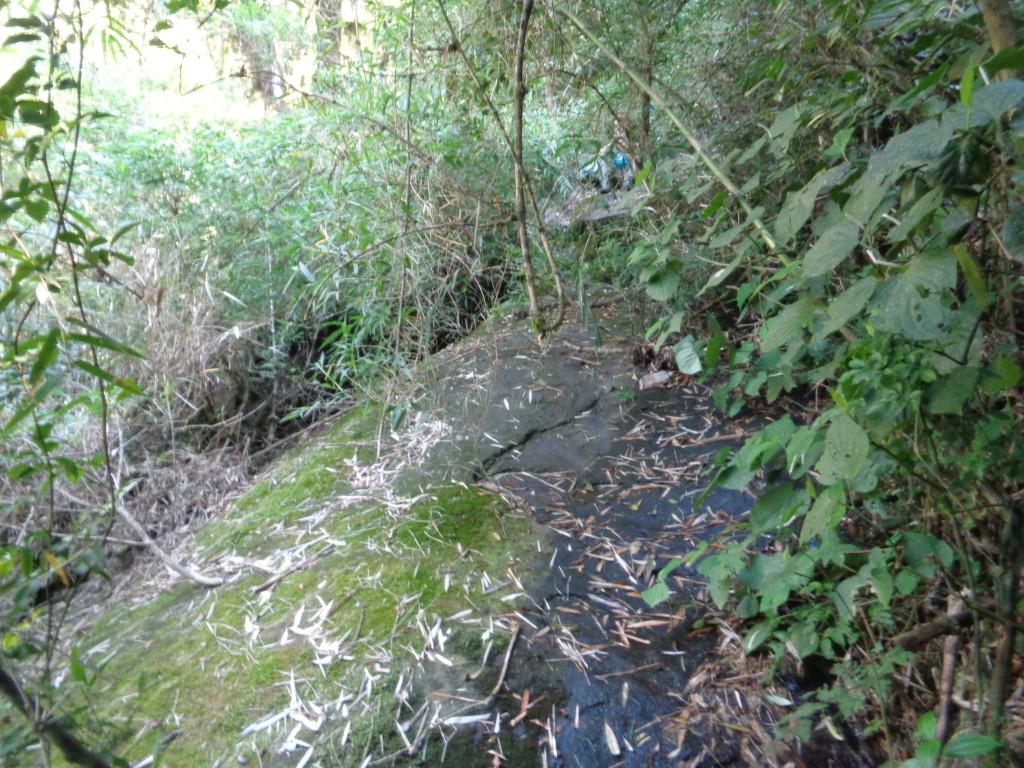 Depois de +- 45 minutos de caminhada depois de deixa a trilha do Cristovão vai chegar nessa laje, subir pela laje e pegar a trilha a esquerda que vai descer, vai cruzar mais um peque no vale e no próximo vale seco vai começar a subir.