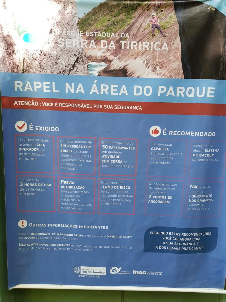 Para quem vai escalar na Serra da Tiririca só precisa assinar um Termo de Responsabilidade na entrada do Parque.